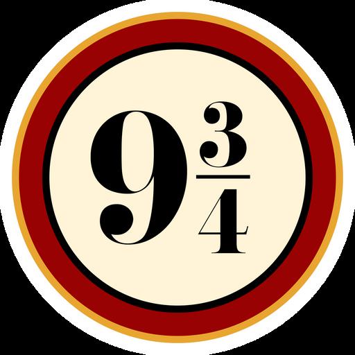 Harry Potter Platform Nine and Three-Quarters Sticker