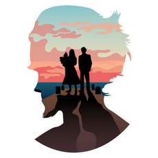 Count Olaf's Silhouette Sticker
