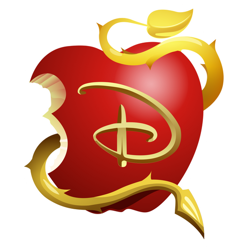 Descendants Apple Logo Sticker
