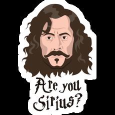 Sirius Black - Are You Sirius? Sticker