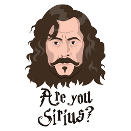 Sirius Black - Are You Sirius? Sticker