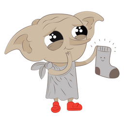 Harry Potter Сute Dobby with Sock Sticker