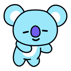 BTS BT21 Koya RM Sticker