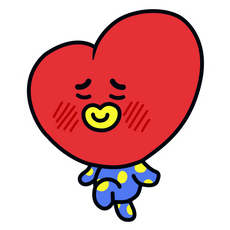 BTS BT21 Tata V Sticker