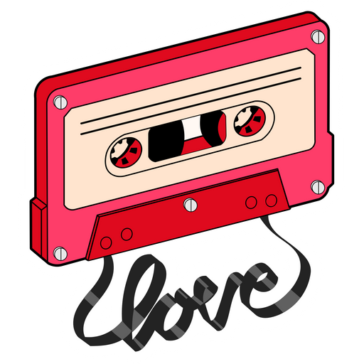 Cassette Tape Love Sticker