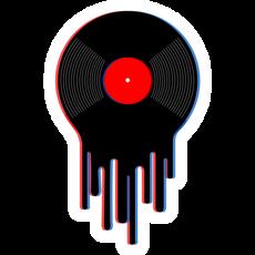 Drip Vinyl Record Sticker