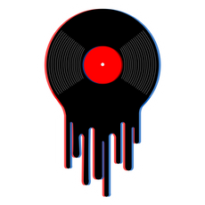 Drip Vinyl Record Sticker