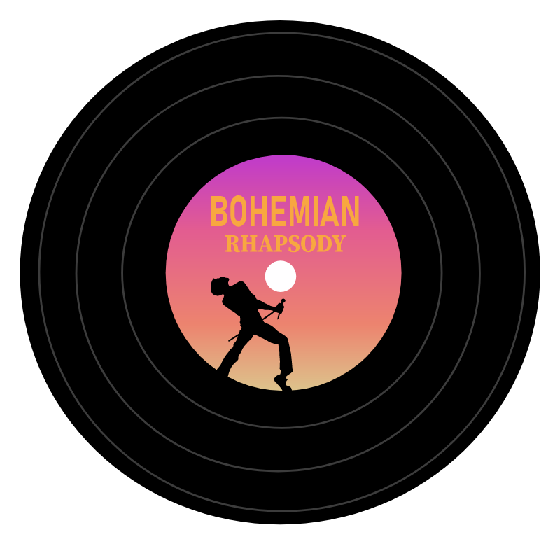 Queen Bohemian Rhapsody Vinyl Sticker