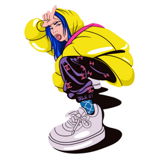 Billie Eilish Loser Pose Sticker
