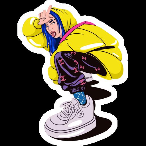 Billie Eilish Loser Pose Sticker