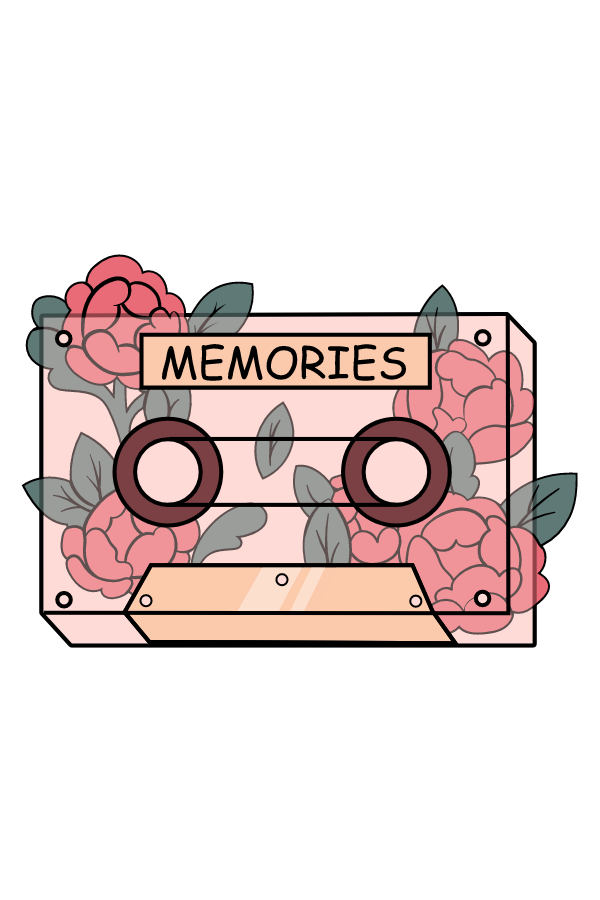 Memories Cassette Tape Sticker