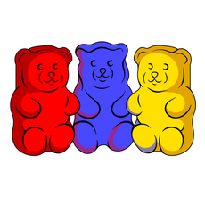 3 Gummy Bears Sticker