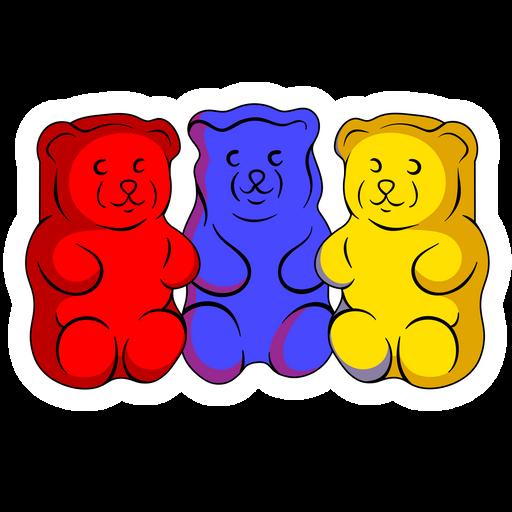 3 Gummy Bears Sticker