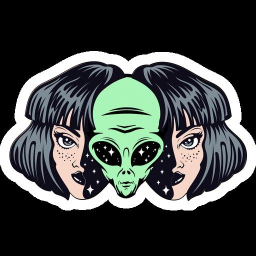 Alien Inside Human Girl Sticker