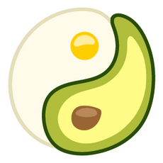 Avocado Egg Yin-Yang Sticker