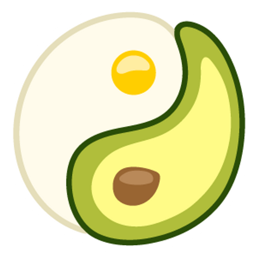 Avocado Egg Yin-Yang Sticker