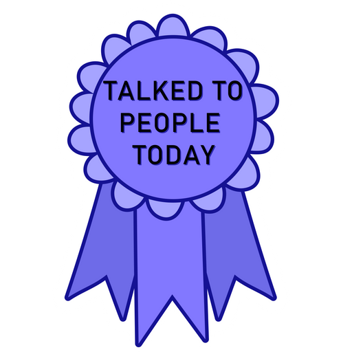 Award Badge Talked to People Today Sticker