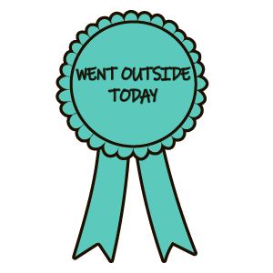 Award Badge Went Outside Today Sticker