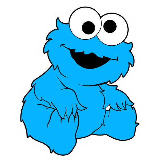 Baby Cookie Monster Sticker