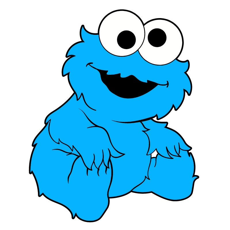Baby Cookie Monster Sticker