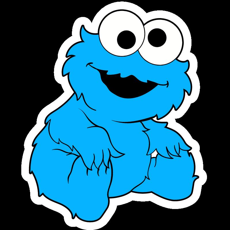 Baby Cookie Monster - Sticker Mania