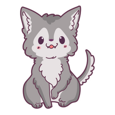 Cute Baby Wolf Sticker