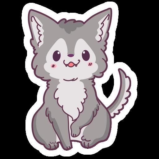 Cute Baby Wolf Sticker