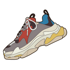 Balenciaga Triple S Sneaker Sticker