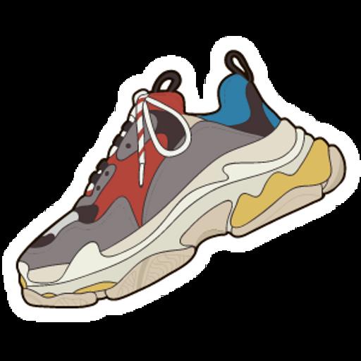 Balenciaga Triple S Sneaker Sticker