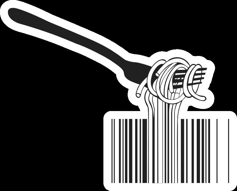 Barcode Spaghetti Noodles Sticker