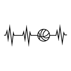 Basketball Pulse Sticker