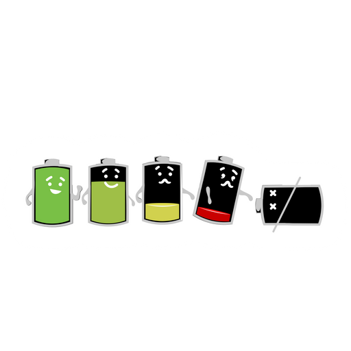 Battery Life Sticker