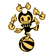 Bendy in Nightmare Faire Sticker