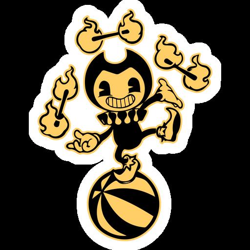 Bendy in Nightmare Faire Sticker