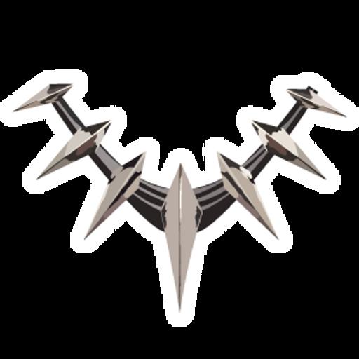 Black Panther Necklace Sticker
