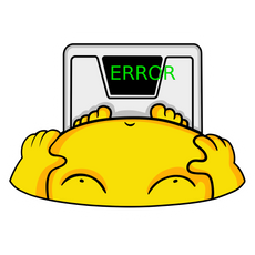 Body Weight Scale Error Sticker