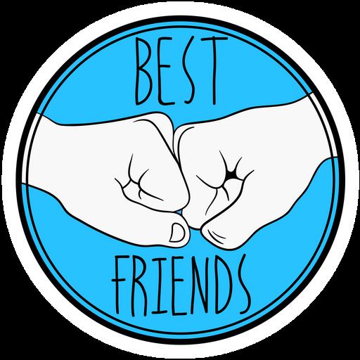Bro Fist Best Friends Sticker