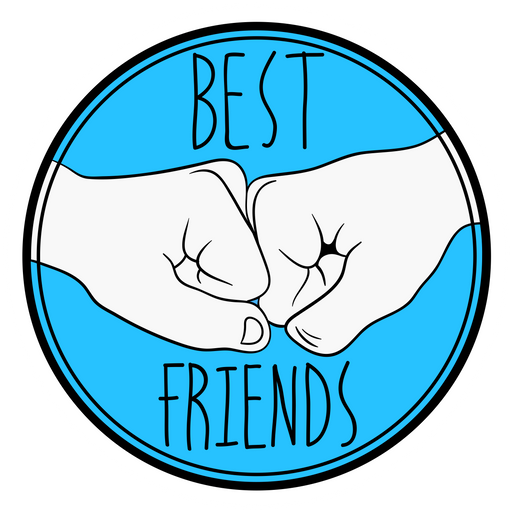 Bro Fist Best Friends Sticker