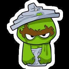 Cartoon Angry Oscar the Grouch Sticker