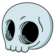 Cartoon Skull Sticker