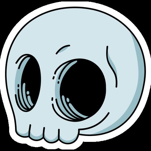 Cartoon Skull Sticker