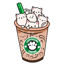 Catppuccino Cofee Sticker
