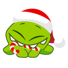 Christmas Cut the Rope Sticker