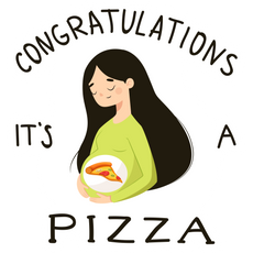 Congratulations It's a Pizza Sticker