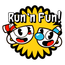 Cuphead and Mugman Run n Fun Sticker
