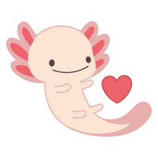 Cute Axolotl Sticker
