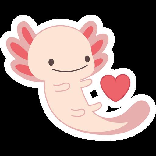 Cute Axolotl Sticker