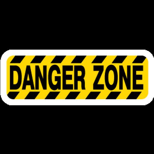 Danger Zone Sign Sticker