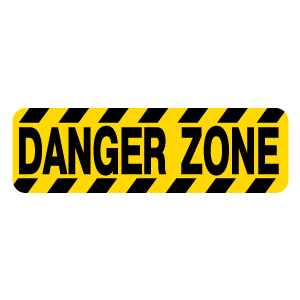 Danger Zone Sign Sticker