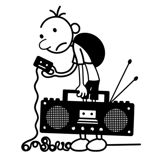 Diary of a Wimpy Kid Old School Sticker